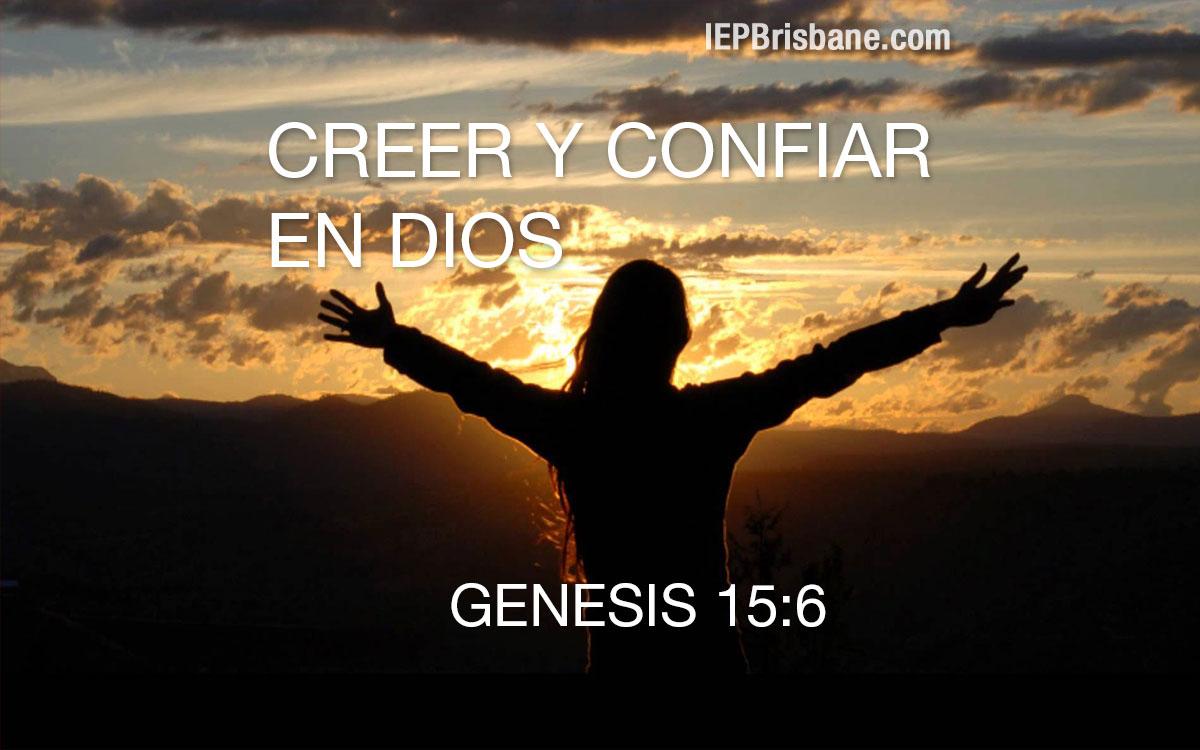 Creer y confiar en Dios