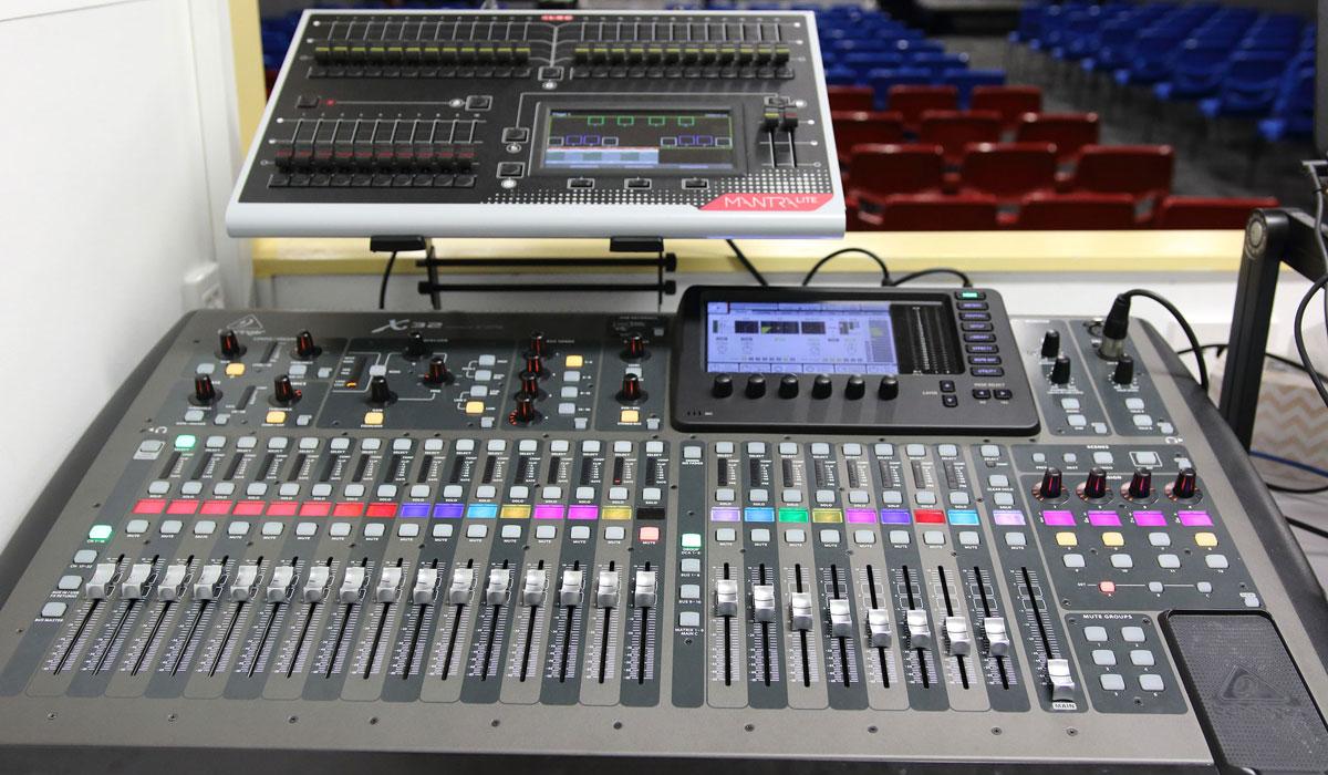 church-sound-console